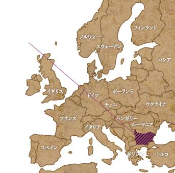 ブルガリア案内図