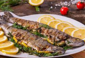 魚料理と白ワイン